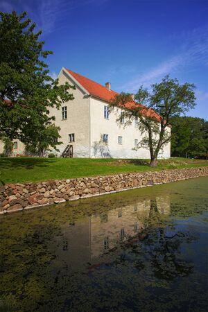 mediaval: Image of the mediaval royal manor house of Tommarp. Skane, Sweden. Editorial