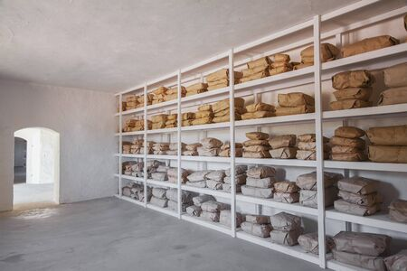 stocked: Image of a fully stocked store room.