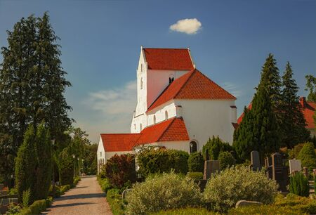 priory: Image of the medieval church and priory at Dalby, Sweden.