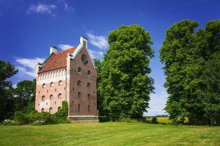 restauration: Image of a restaured medieval tower, found at Borgeby castle, Sweden. Editorial