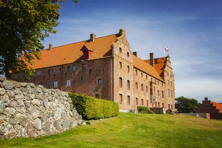 extensive: Image of the Swedish castle of Skarhult, and its extensive public gardens. Editorial