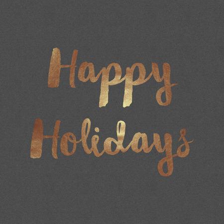 navidad elegante: Imagen de papel gris con el texto lámina de cobre. Diseño de tarjeta. Foto de archivo
