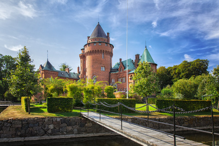 mediaval: Image of the castle of Hjularod, in south Sweden. Built in french medieval romantic style.