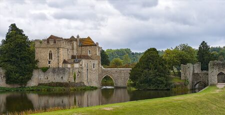 kent: Image of Leed castle in Kent, England. Editorial