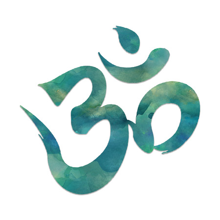 mantra: Image of the mantra symbol, OHM, used in meditation and yoga. Stock Photo