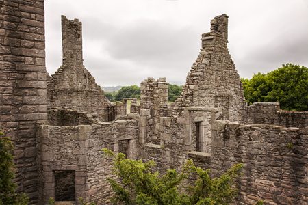 Image of the crumbling castle of Craigmillar. Edinburgh, Scotland.