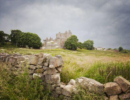Image of a crumbling wall by Craigmillar castle. Edinburgh, Scotland.