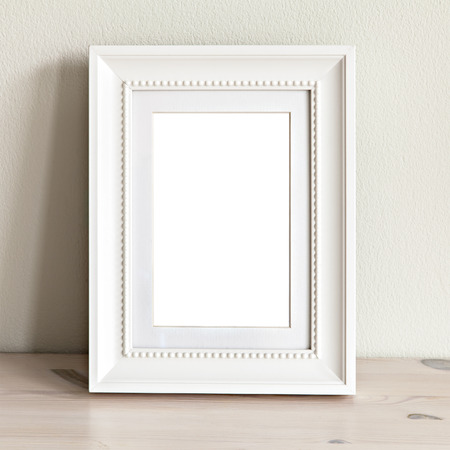 Image of a mockup scene with ornate white frame.