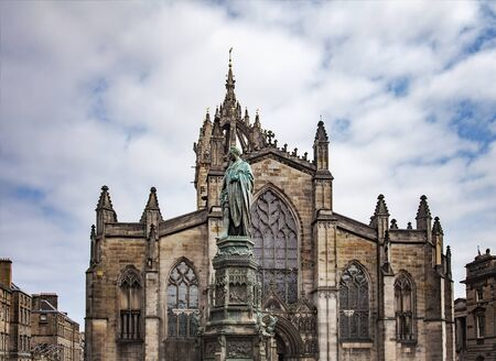 giles: Image of saint Giles cathedral in Edinburgh, Scotland.