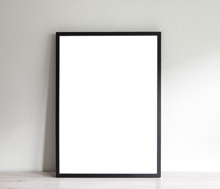 simple frame: Image of simple poster frame mockup scene.