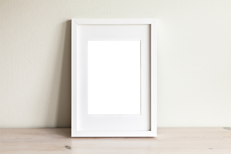 Image of a white frame mockup scene.