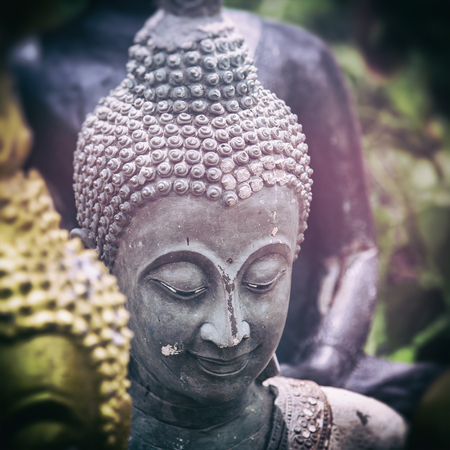 smiling buddha: Image of a smiling buddha statue. Stock Photo