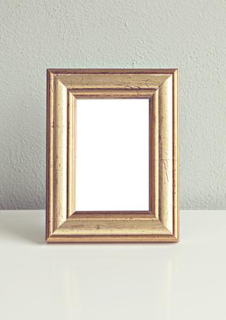 gilded: Image of old gilded frame mockup.