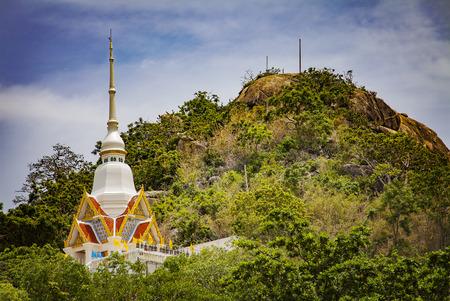 hua hin: Image of buddhist temple in the hills mount Takiab. Hua Hin, Thailand.