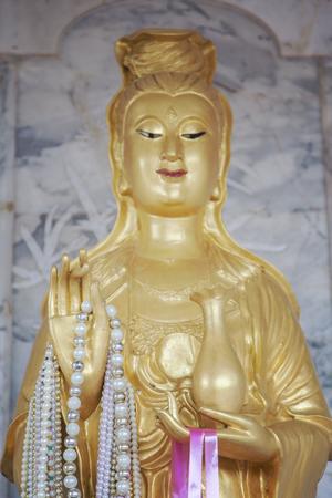 deity: Image of a chinese female deity statue.