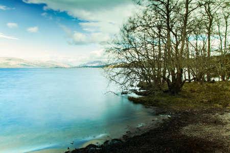 loch lomond: Image of a lake landscape from Loch Lomond, Scotland.