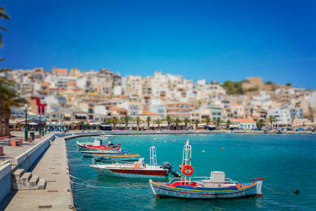 seaside town: Image of the seaside town of Sitia on Crete, greece.