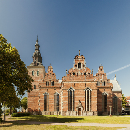 sacred trinity: Image of Holy Trinity church in Kristianstad, Sweden. Stock Photo