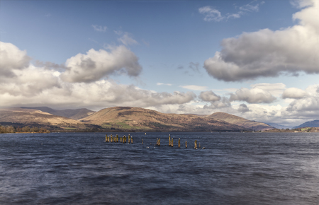 Image of Loch (lake) Lomond in winter. Scotland. Stock Photo