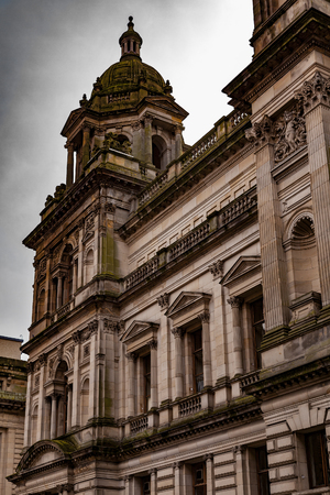 Image of old buildings in the city of Glasgow, Scotland.