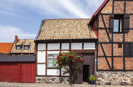 bandera de suecia: Image of traditional swedish architecture in the town of Ystad.