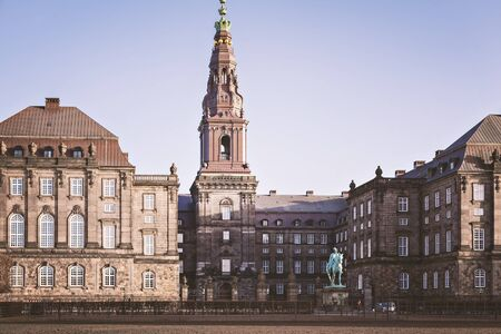 bilding: Image of the palace and parliament bilding of Christiansborg. Copenhagen, Denmark.