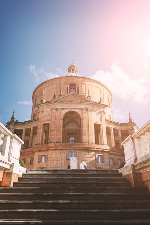 Image of the hilltop basilica of San Luca. Bologna, Italy. Redakční