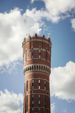 Image of the former water tower in Kalmar, Sweden.