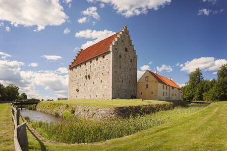 Image of the medieval fort of Glimmingehus in Sweden. Stock Photo
