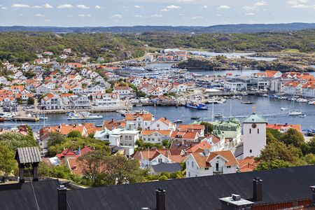 The popular summertime resort of Marstrand on the Swedish west coast. Stock fotó - 85477735