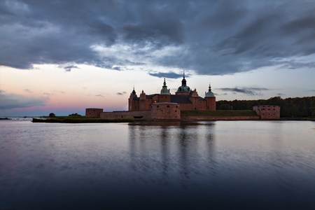 The historical waterfront citadel at sunrise. Kalmar, Sweden.