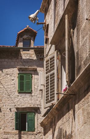 Historic architecture in the old town of Split, Croatia. 写真素材