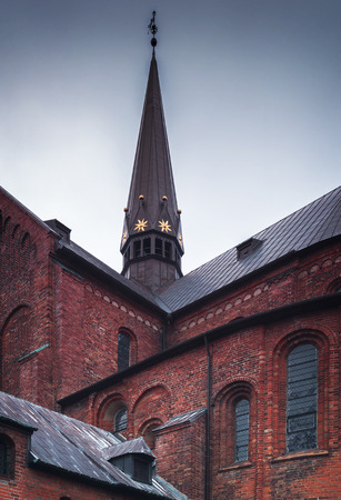 Detail of architecture of the cathedral in Roskilde, Denmark. Banco de Imagens