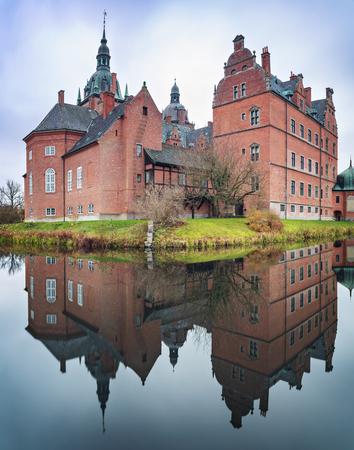 Medieval castle of Vallo in Denmark. Editorial
