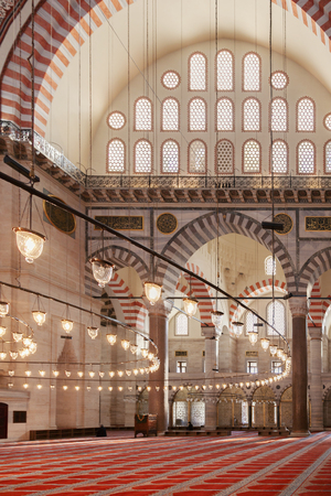 Inside a mosque. Istanbul, Turkey.