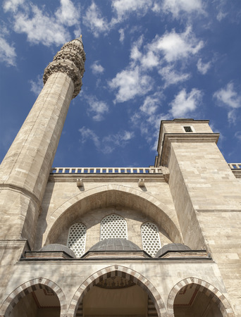 Perspective shot of Suleymaniye mosque exterior. IStanbul, Turkey. Banco de Imagens
