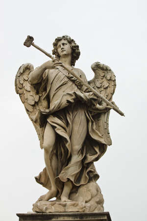angelo: Angel sculpture from St Angelo bridge in Rome, Italy.
