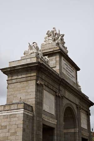 Puerta de Toledo in Madrid, Spain  photo