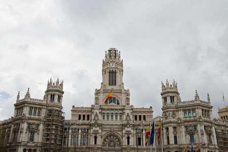 palacio de comunicaciones: An image of Communication palace in Madrid, Spain  Stock Photo