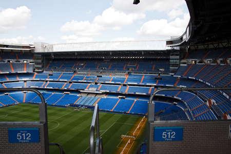 santiago: Santiago Bernabeu Stadium in madrid, Spain. Stadium of Final Champions league May 2010