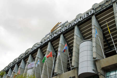 Santiago Bernabeu Stadium in madrid, Spain. Stadium of Final Champions league May 2010