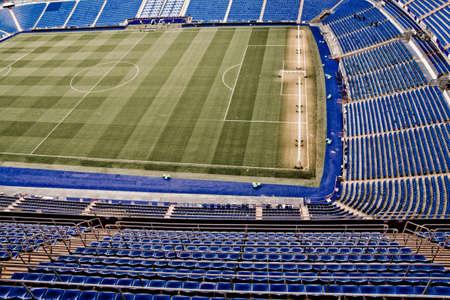 Santiago Bernabeu Stadium in madrid, Spain. Stadium of Final Champions league May 2010
