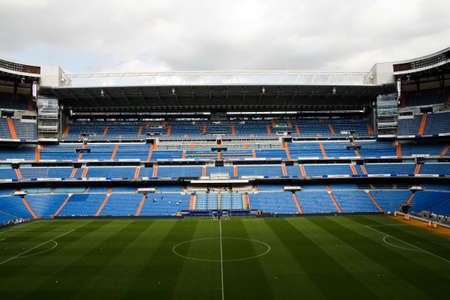 Santiago Bernabeu Stadium in madrid, Spain. Stadium of Final Champions league May 2010 Stock Photo - 7076755