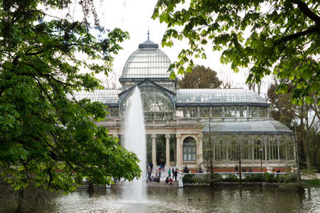 Glass Hall at Park del Retiro Madrid, Spain 2010 Editorial