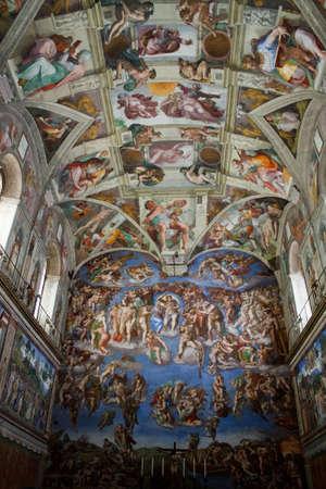 catholic chapel: Vatican Sistine Chapel by Michelangelo Buonarroti. Rome, Italy. 2010