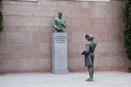 spainish: Statue in Plaza De Toros De Las Ventas in Madrid, Spain 2010