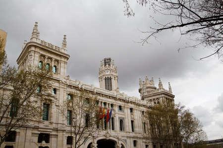 palacio de comunicaciones: Communication palace in Madrid, Spain 2010