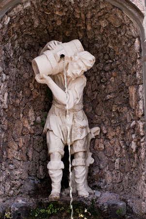 Statue in Garzoni garden, Italy Stock Photo - 7148623