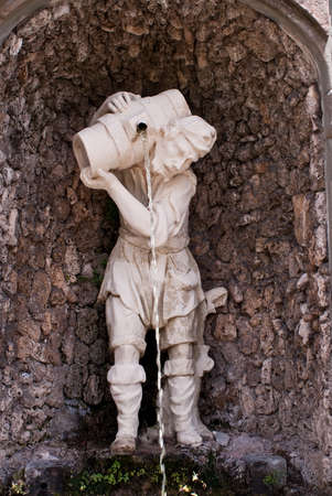 garzoni: Statue in Garzoni garden, Italy