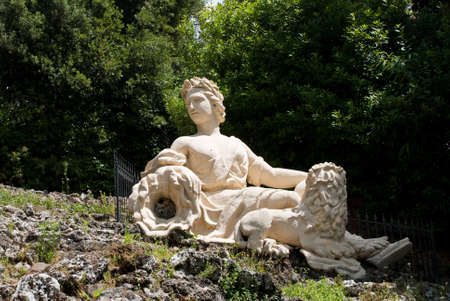Woman Statue in Garzoni garden, Italy Stock Photo - 7231479